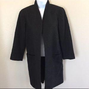 Eileen Fisher Black Textured  Coat / Jacket XS